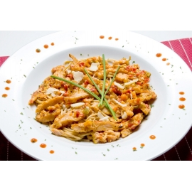 Spaghetti multigrain au poulet et légumes