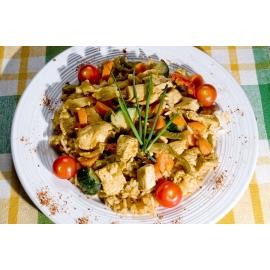 Curry de poulet jardinière