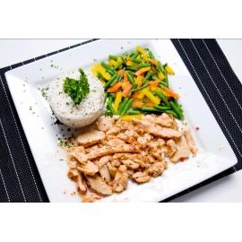 Poitrine de poulet  italienne et riz basmati
